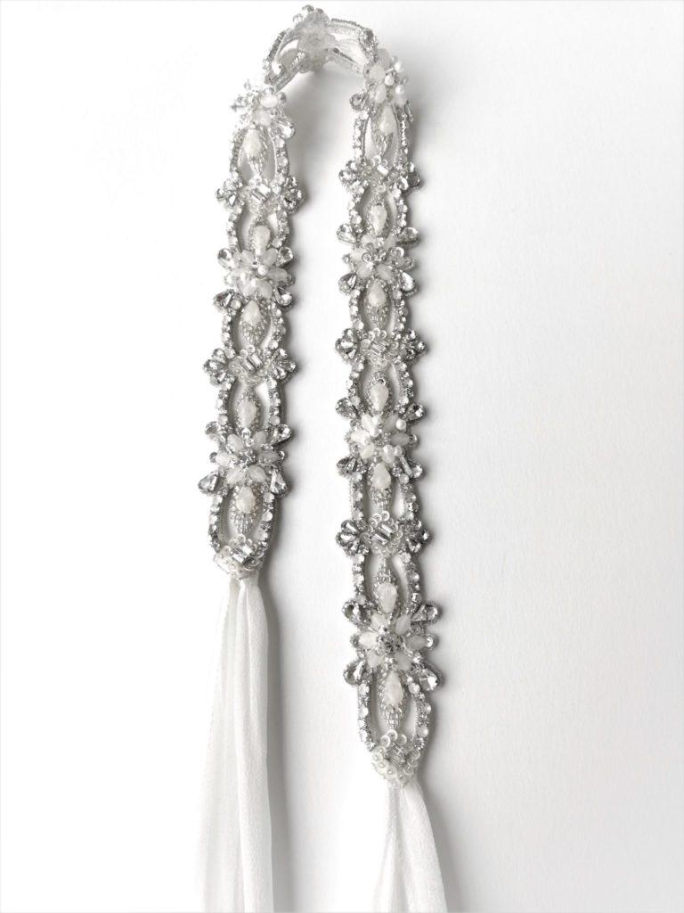 vintage inspired crystal belt CADY - Sadoni Shop